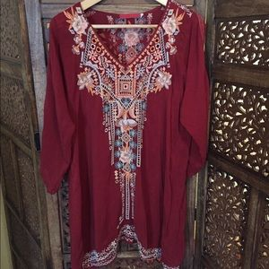Like New Johnny Was Tunic Blouse M